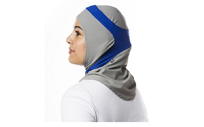 Hijab Lightgrey Cobalt