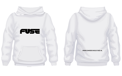20201110 Hoodie FUSE Letters Wit