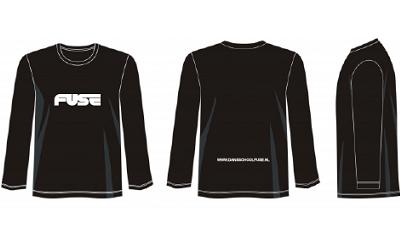20201110 Sweater LS FUSE Letters Zwart