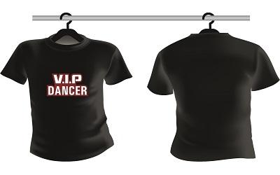 Shirts VIP Dancer Zwart